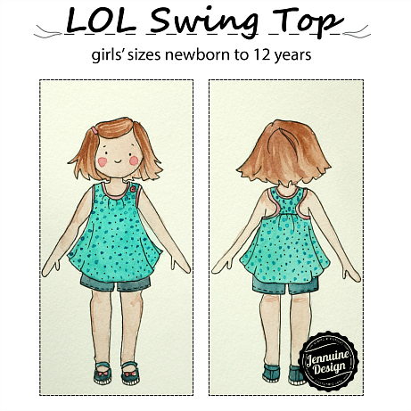 LOL Swing Top by Jennuine Design