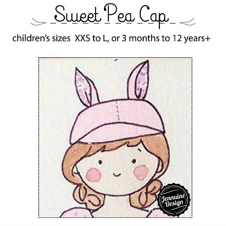 Sweet Pea Cap by Jennuine Design